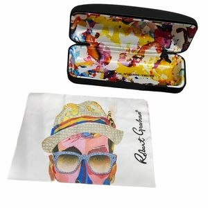 Robert Graham Sunglasses Case with Cleaning Cloth
